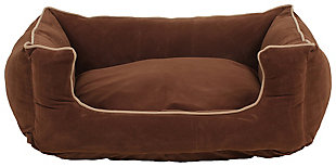 Kuddle Small Lounge Pet Bed, Chocolate, large