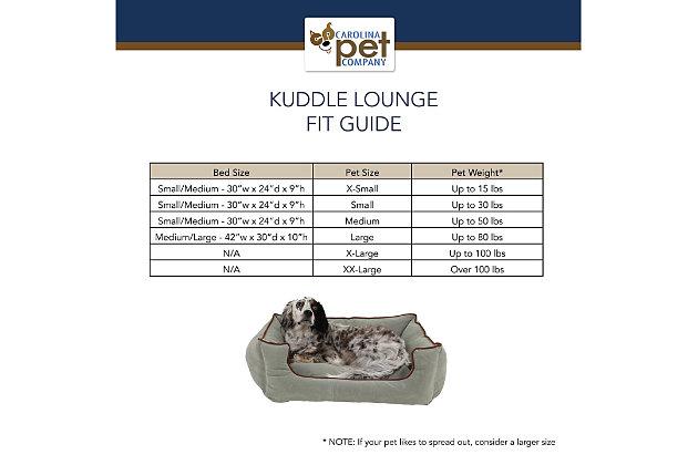 Kuddle Small Lounge Pet Bed, Chocolate, large
