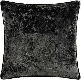 Surya Velvet Mood Pillow Cover, Black, large