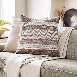 Surya Levi Pillow Cover, Camel, rollover