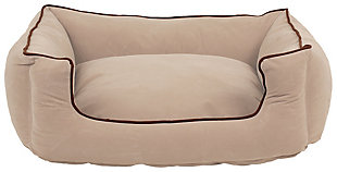 Kuddle Small Lounge Pet Bed, Linen, large