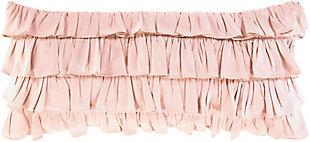 Surya Ruffle Pillow Cover, Blush, rollover