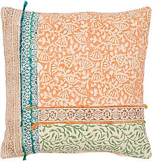 Surya Sanga Pillow, Bright Orange, large