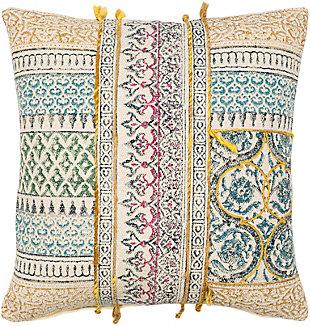 Surya Sanga Pillow, Beige, rollover