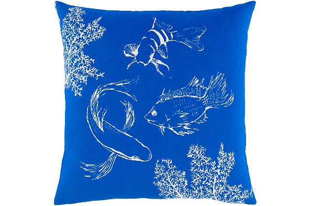 Surya Sea Life Pillow Cover, , large
