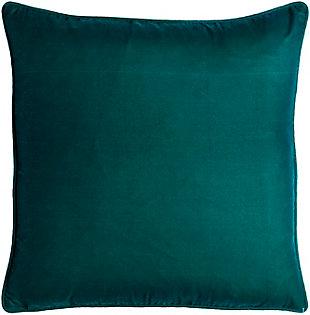 Surya Velvet Glam Pillow, Teal, rollover