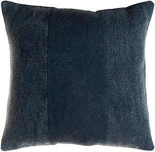 Surya Washed Stripe Pillow Cover, Navy, large
