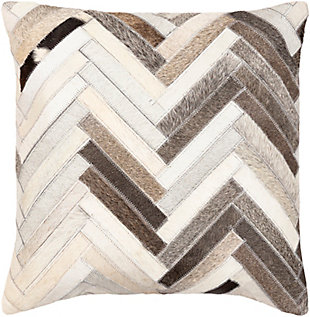 Surya Zander Leather Pillow Cover, , rollover