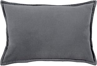 Surya Cotton Velvet Pillow Cover, Gray, large