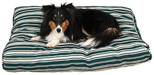Jamison Small Striped Pet Bed, Green, rollover