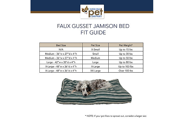 Jamison Small Striped Pet Bed, Green, large