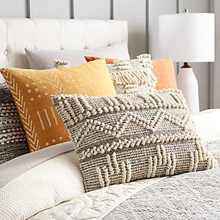 Surya Faroe Pillow Cover, Cream/Khaki, rollover
