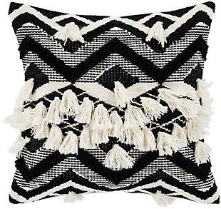 Surya Gaza Pillow Cover, Beige/Black, large