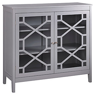 Fetti Double Door Cabinet, Gray, large