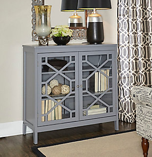 Fetti Double Door Cabinet, Gray, rollover