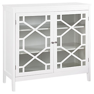 Fetti Double Door Cabinet, White, large