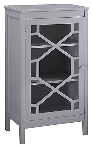 Fetti Single Door Cabinet, Gray, rollover