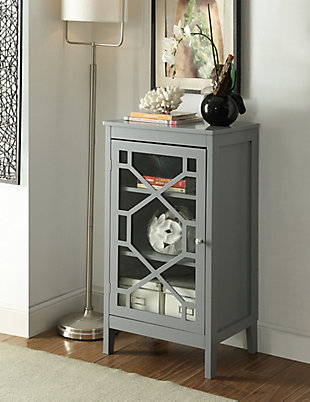 Fetti Single Door Cabinet, Gray, large