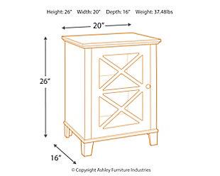 Rapture Awning Stripe Single Door Cabinet, , large