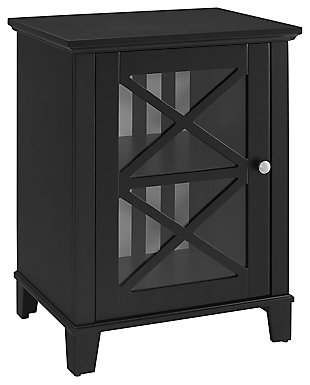 Rapture Awning Stripe Single Door Cabinet, , large