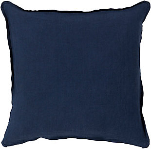 Surya Solid Pillow Cover, Navy, large