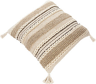 Surya Tov Pillow Cover, Beige/Ivory, rollover