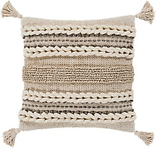 Surya Tov Pillow Cover, Beige/Ivory, large