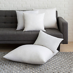 Surya Down Pillow Insert, White, rollover