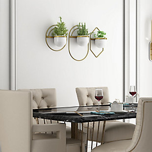 Gild Design House Brooklyn Metal Wall Planters, (Set of 3), , rollover