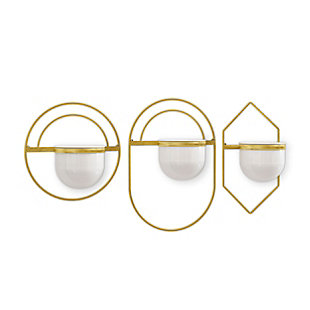 Gild Design House Brooklyn Metal Wall Planters, (Set of 3), , large