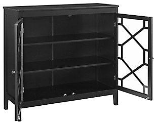 Felicia Double Door Cabinet, Black, rollover