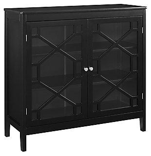 Felicia Double Door Cabinet, Black, large