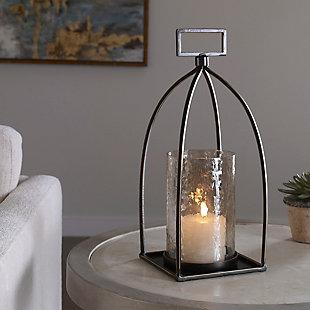 Uttermost Riad Bronze Lantern Candleholder, , rollover
