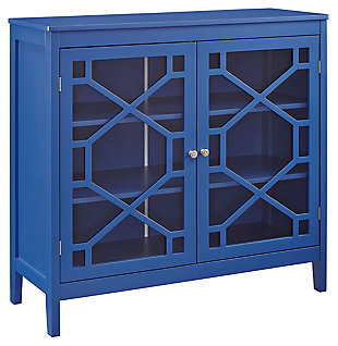 Felicia Double Door Cabinet, Blue, large