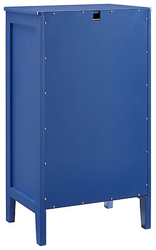 Felicia Single Door Cabinet, Blue, large