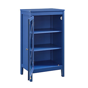 Felicia Single Door Cabinet, Blue, rollover