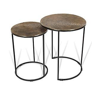 Gild Design House Othello Metal Nesting Tables (Set of 2), , rollover