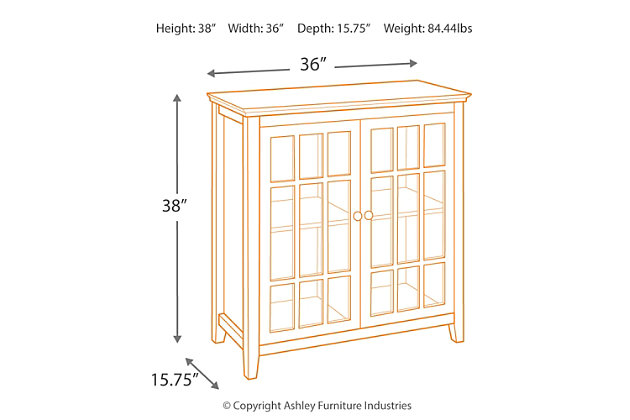 Leslie Double Door Cabinet, Gray, large