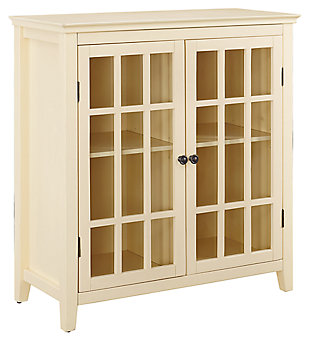 Leslie Double Door Cabinet, Yellow, large