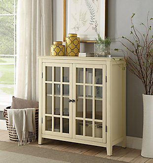 Leslie Double Door Cabinet, Yellow, rollover