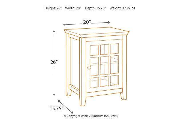 Leslie Single Door Cabinet, Gray, large