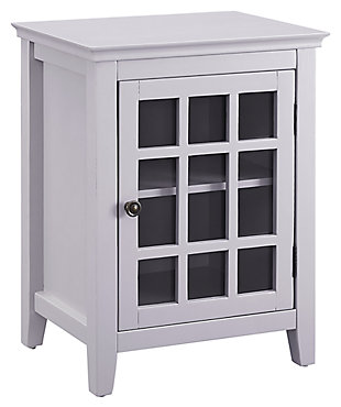 Leslie Single Door Cabinet, Gray, large