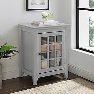 Leslie Single Door Cabinet, Gray, rollover