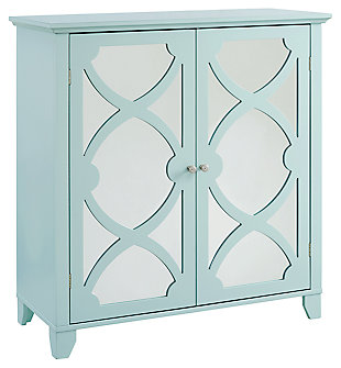 winter Double Door Cabinet with Mirror Door, , large
