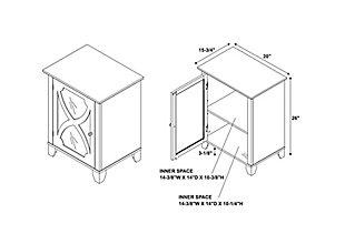 Winter Single Door Cabinet with Mirror Door, Cream, large