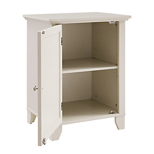 Winter Single Door Cabinet with Mirror Door, Cream, rollover