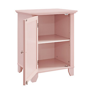 Winter Single Door Cabinet with Mirror Door, Pink, rollover