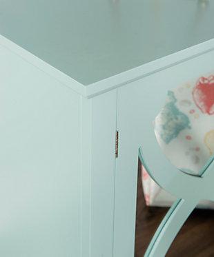 Winter Single Door Cabinet with Mirror Door, Seafoam, large
