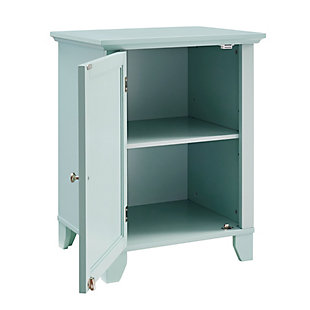 Winter Single Door Cabinet with Mirror Door, Seafoam, rollover