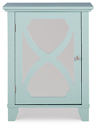 Winter Single Door Cabinet with Mirror Door, Seafoam, large